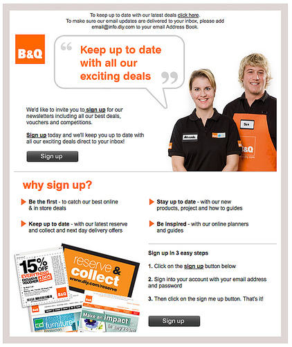 B&Q Newsletter Design, por Rob Enslin em CC